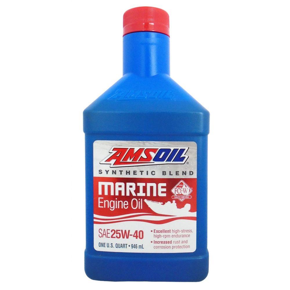 Моторное масло для 4-Такт лод.мот. AMSOIL Synthetic Blend Marine Engine Oil SAE 25W-40 0,946л