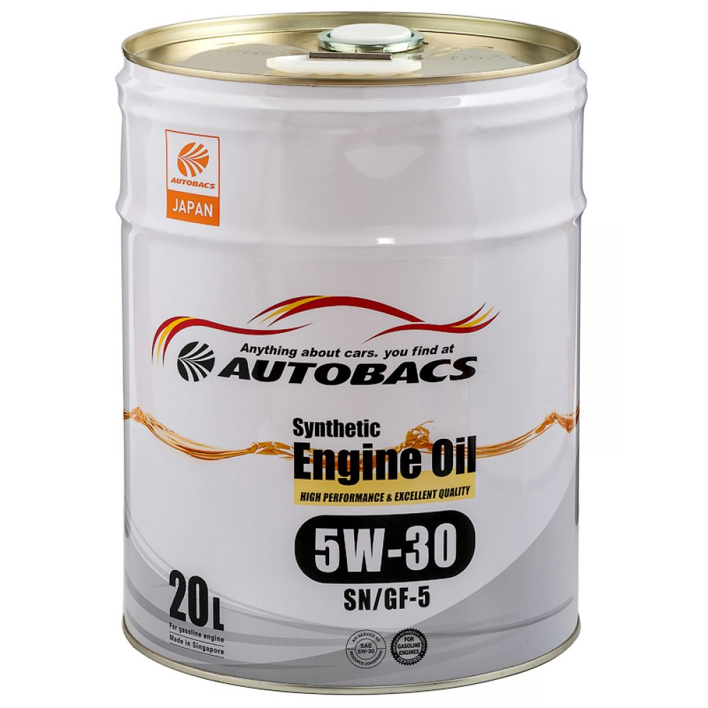Моторное масло AUTOBACS Synthetic Engine Oil 5W-30 SN/GF-5, 20л
