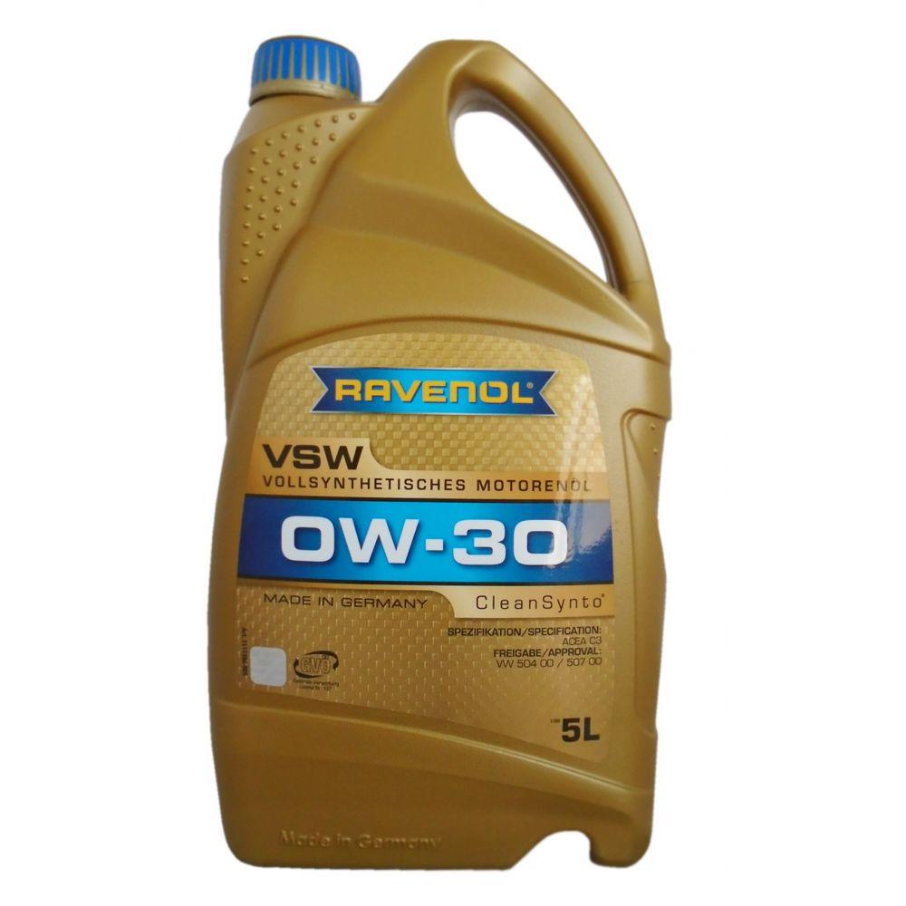 Моторное масло RAVENOL VSW SAE 0W-30 ( 5л) new