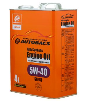 Масло моторное AUTOBACS ENGINE OIL SYNTHETIC 5W-40, 4л