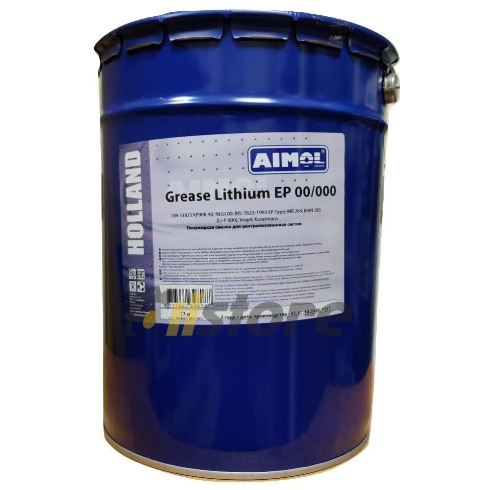 Смазка AIMOL Grease Lithium EP 00/000, 17кг