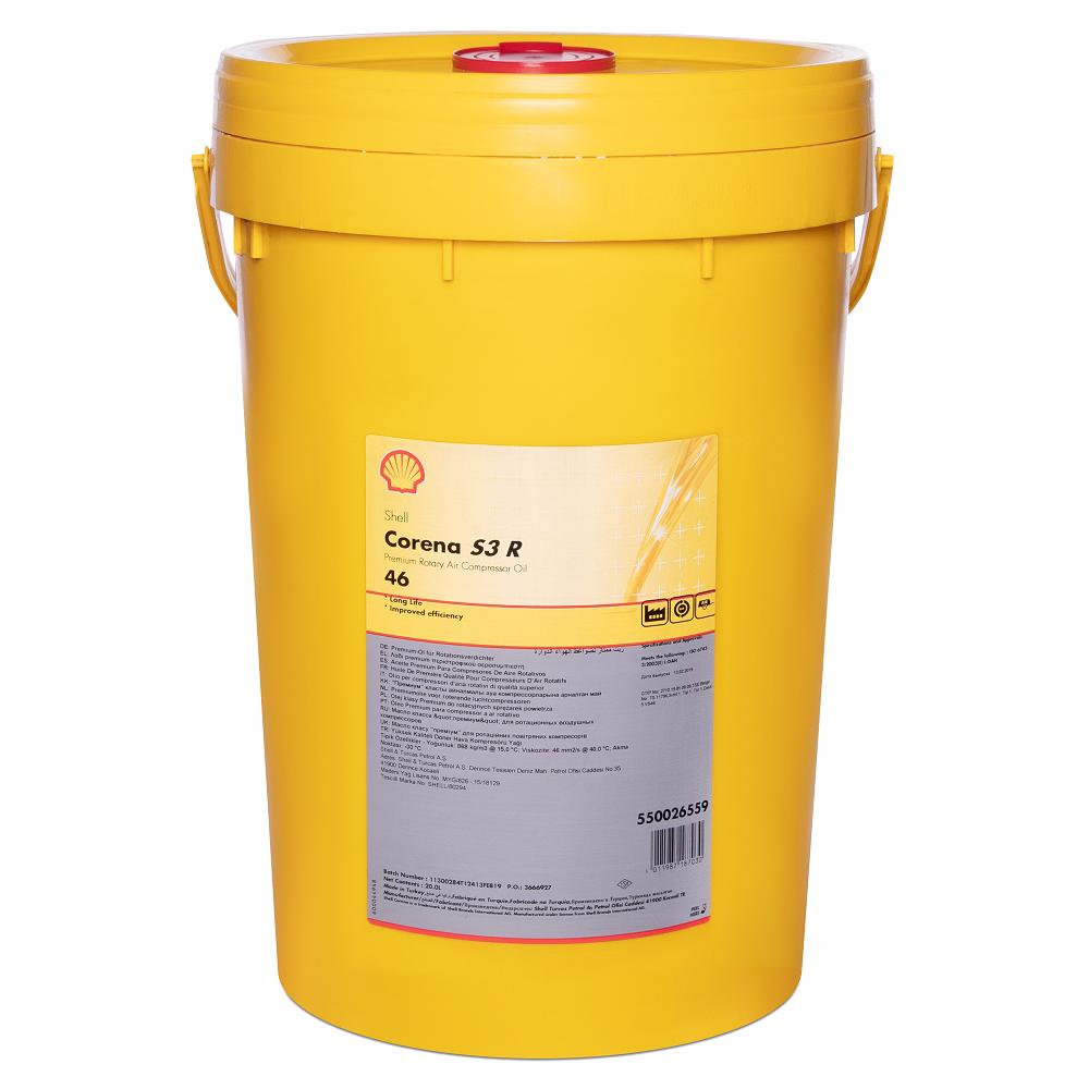 Компрессорное масло Shell Corena S3 R 46, 20л