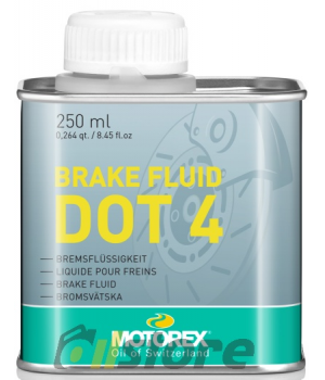 Тормозная жидкость MOTOREX BRAKE FLUID DOT 4, 0,25л