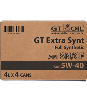 Моторное масло GT OIL GT Extra Synt SAE 5W-40, 4л x4
