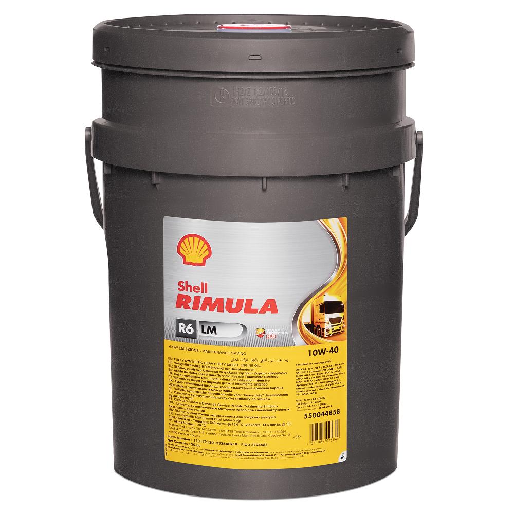 Моторное масло Shell Rimula R6 LM 10W-40, 20л