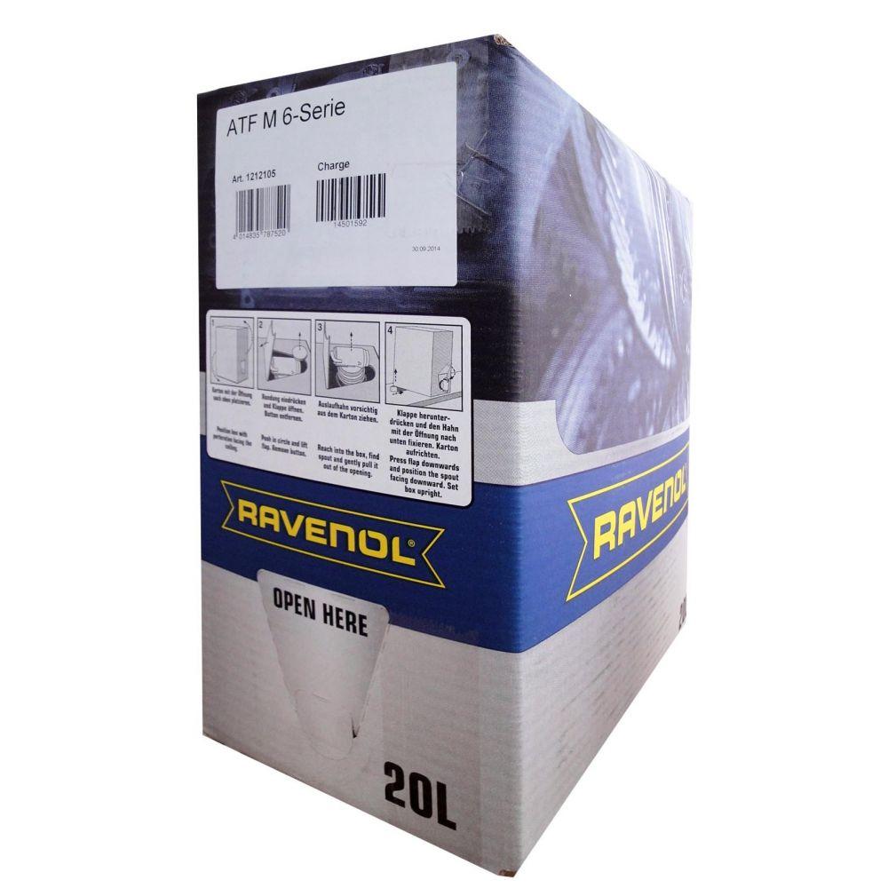 Трансмиссионное масло RAVENOL ATF M 6-Serie (20л) ecobox