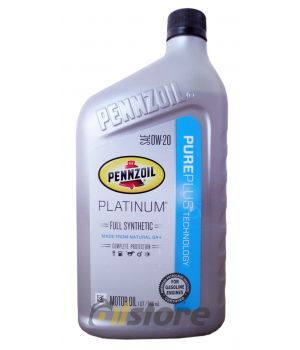 Моторное масло PENNZOIL Platinum SAE 0W-20, 0,946л