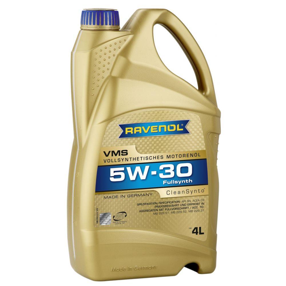 Моторное масло RAVENOL VMS SAE 5W-30 (4л) new