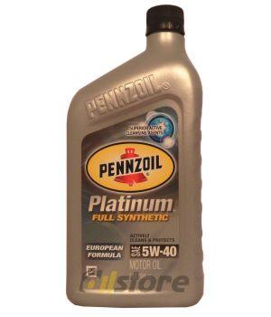 Моторное масло PENNZOIL Platinum European Formula SAE 5W-40, 0,946л