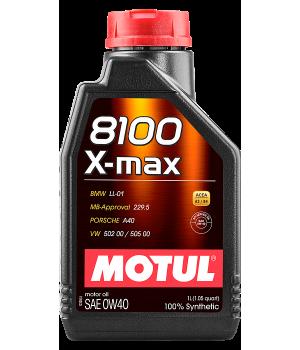 Моторное масло MOTUL 8100 X-max 0W-40, 1 л.