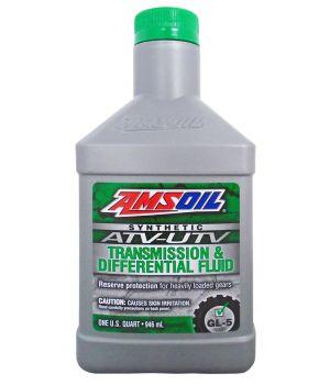 Трансмиссионное масло AMSOIL Synthetic ATV/UTV Transmission and Differential Fluid, 0,946 л.